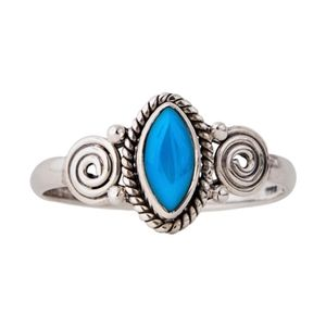 Jewelry - Sterling Silver Turquoise Ring Size 8